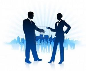 Rencontre hommes d'affaires